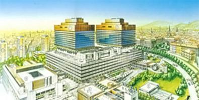 ウィーン大学総合病院の全景図